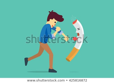 Stop Smoking Means Lung Cancer And Addict Stock photo © stuartmiles