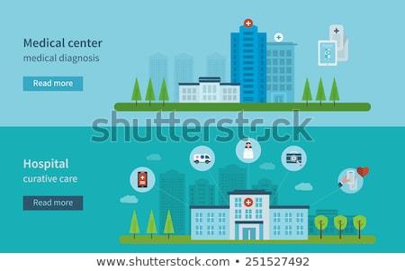 Kardiogram orvosi szolgáltatások ikon terv izolált Stock fotó © WaD