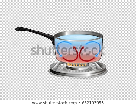 Diagram showing heat cycle when boiling water Stock photo © bluering