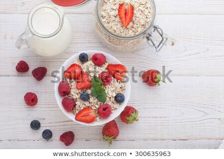 ミューズリー ベリー ミルク イチゴ 朝食 食事 ストックフォト © M-studio