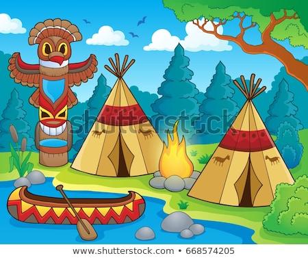 Native American campsite theme image 1 Stock photo © clairev