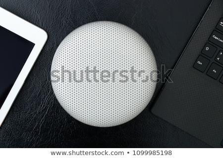 Telefoon smartphone Blauw houten business Stockfoto © TanaCh