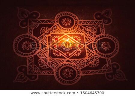 piękna · mandala · dekoracji · diwali · festiwalu · streszczenie - zdjęcia stock © sarts