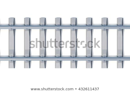 railroad track train point of view stock photo © homydesign