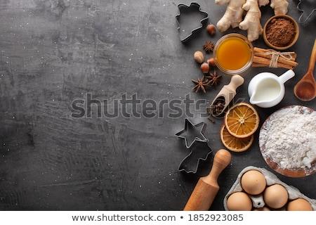 mézeskalács · sütik · karácsony · desszert · ünnep · süti - stock fotó © m-studio