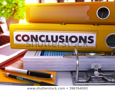 red office folder with inscription conclusions stock photo © tashatuvango