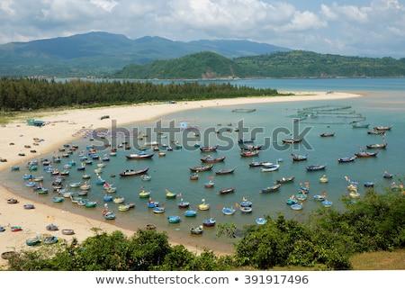 Halászat falu yen Vietnam tengeri kilátás elképesztő Stock fotó © xuanhuongho