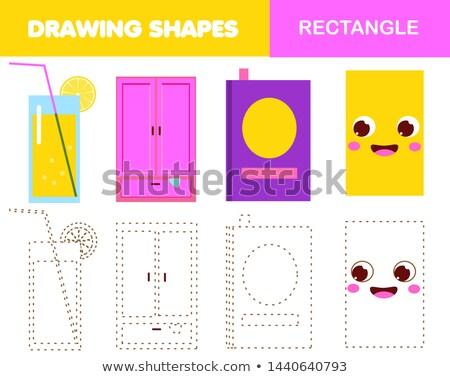 Coloring book geometric form rectangle Stock photo © Olena