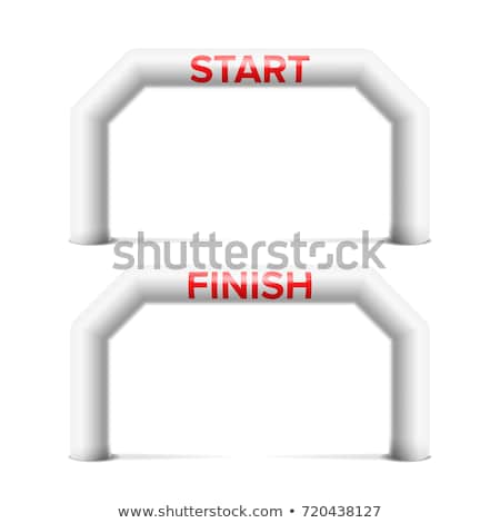 Inflatable Start, Finish Line Arch Vector. Place For Sponsors Advertising. Isolated On White Illustr Stock photo © pikepicture