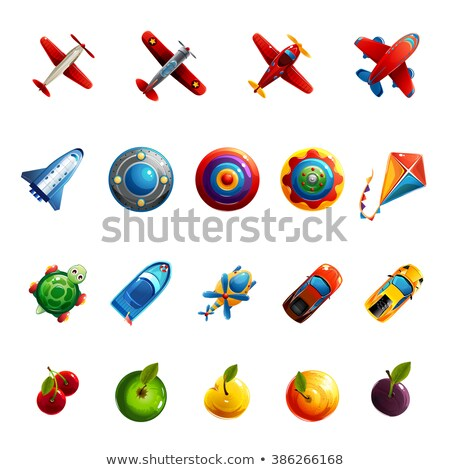 Set of game machine objects - vector realistic isolated clip art Stock photo © Decorwithme