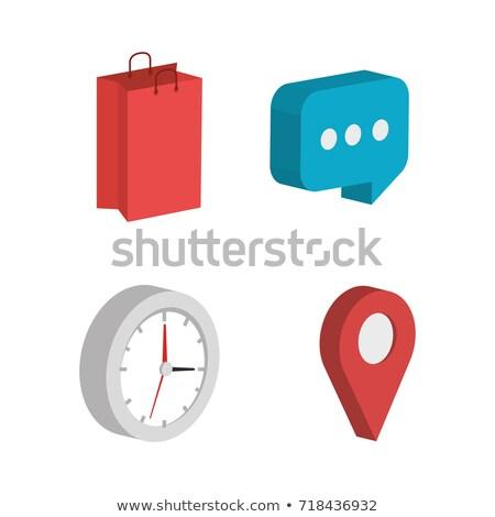 tiempo · seo · reloj · primer · plano · blanco · rojo - foto stock © tashatuvango