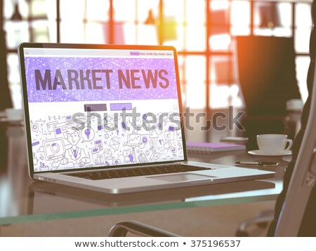 Business Correspondence - on Laptop Screen. Closeup. 3D. Stock photo © tashatuvango