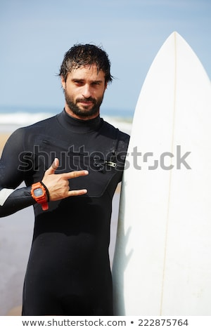 surfista · azul · tabla · de · surf · playa · cielo - foto stock © 2Design
