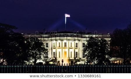 White House South Lawn Blue Sky Washington DC Stock photo © Qingwa
