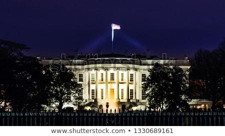 white house south lawn blue sky washington dc stock photo © qingwa