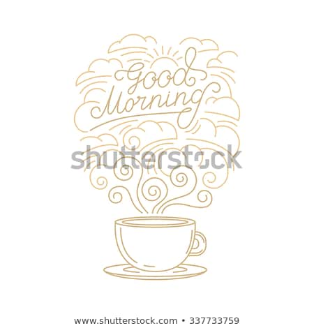 icon Good morning  linear style Stock photo © Olena