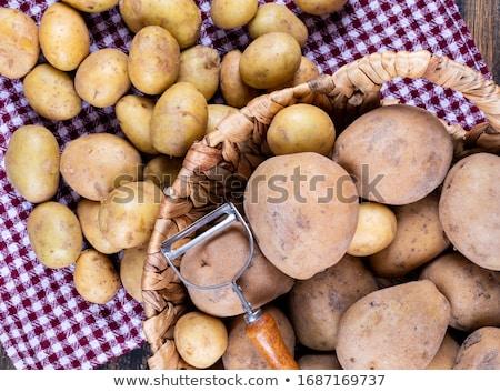 Egész hámozott krumpli héj izolált fehér Stock fotó © digitalr
