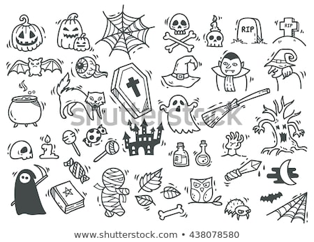 рисунок Хэллоуин праздников школы белый бумаги Сток-фото © romvo