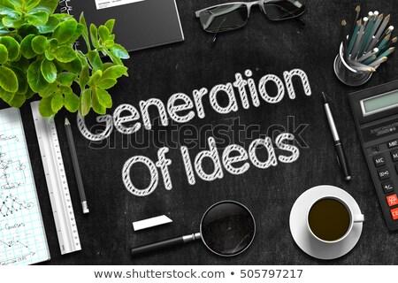 Generation Of Ideas on Black Chalkboard. 3D Rendering. Stock photo © tashatuvango