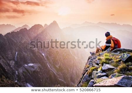 mãos · completo · rochas · homem · pequeno - foto stock © is2