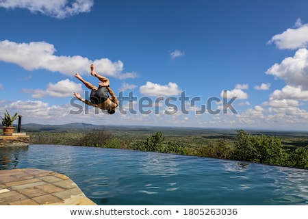 man backflipping in park Stock photo © IS2