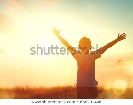 silhouette of caring for a child Stock photo © Olena