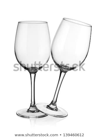 boş · şarap · bardakları · cam · şarap · yalıtılmış - stok fotoğraf © denismart