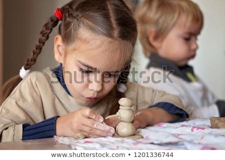 takım · eller · çocuk · yardım · çalışmak · seramik - stok fotoğraf © 5xinc