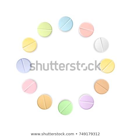 Szett tizenkettő gyógyszertár ikon szett ikonok kék Stock fotó © angelp