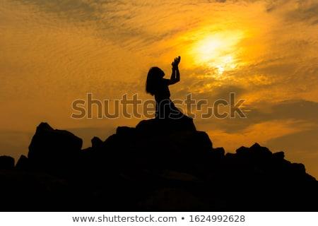 Femme dieu bible fille mains Photo stock © keeweeboy