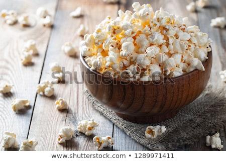 Ciotola sale popcorn vecchio ceramica pietra Foto d'archivio © YuliyaGontar