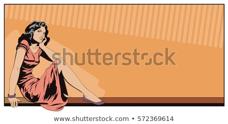 Portrait of girl sitting on railing Stock photo © IS2