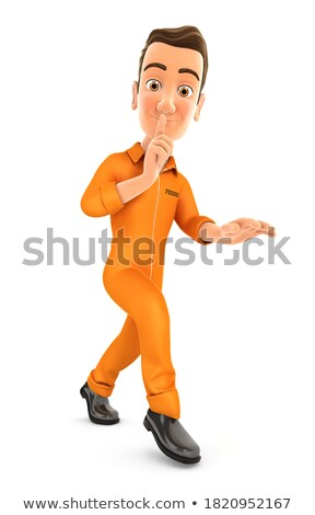 3d man walking on tiptoe Stock photo © 3dmask