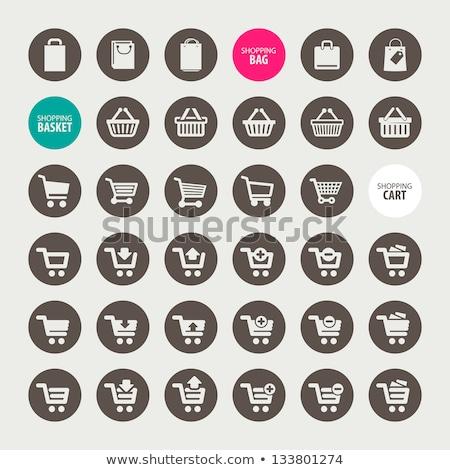 Shopping bag icon sticker Stock photo © ikopylov
