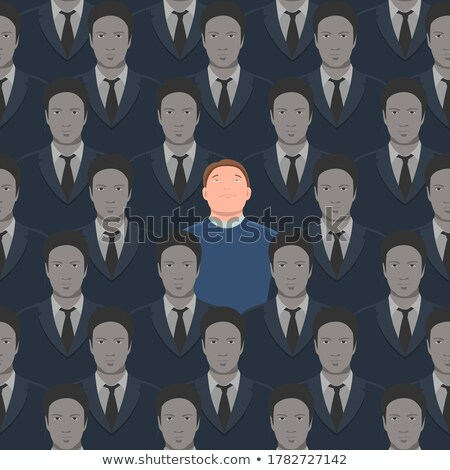 Spy. Seamless pattern of people. A crowd of men. Stock photo © popaukropa