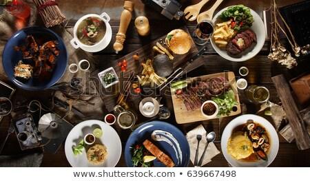 international cuisine on the table Stock photo © Studiotrebuchet