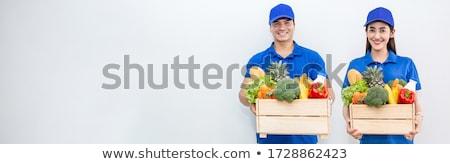 Pár vásárol zöldségek organikus bolt szuper Stock fotó © wavebreak_media