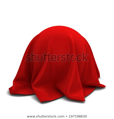 Stock photo: Sphere covered with red silk fabric