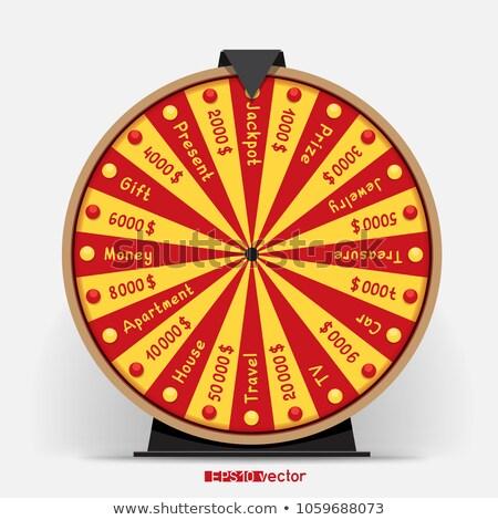 колесо двадцать четыре лотерея объект Gamble Сток-фото © romvo