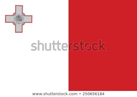 Мальта флаг белый дизайна фон волна Сток-фото © butenkow