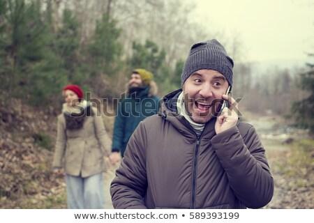 Suora parlando cellulare sorridere comunicazione Foto d'archivio © IS2