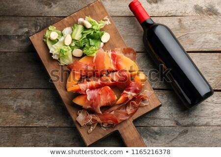 Melon mozzarella prosciutto salade fond été Photo stock © M-studio