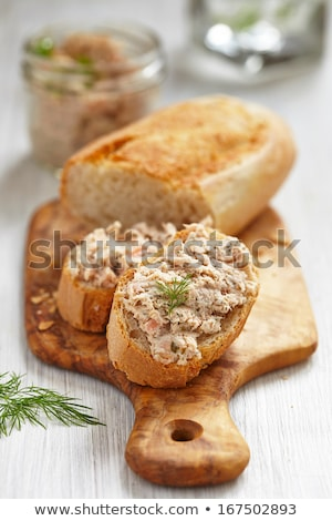 Smoked salmon, soft cheese and dill spread Stock photo © Melnyk