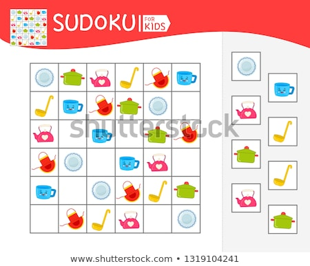 sudoku logic kitchen aprons Stock photo © Olena