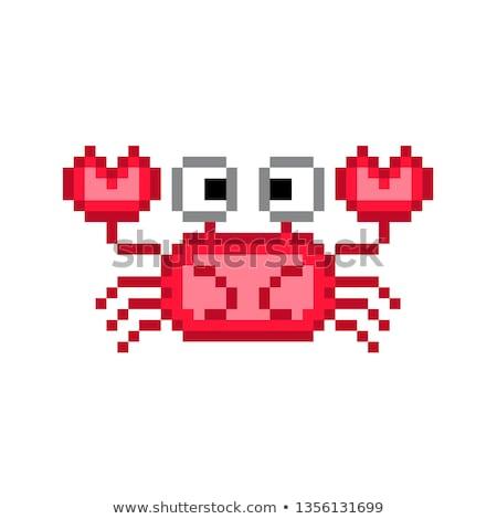 Caranguejo arte bocado marinha animal Foto stock © popaukropa