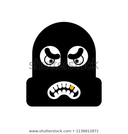 Soyguncu yüz kafa hırsız şapka hırsız Stok fotoğraf © popaukropa