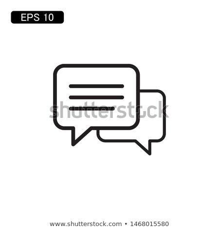 icon · dialoog · berichten · twee · witte · tekst - stockfoto © foxysgraphic