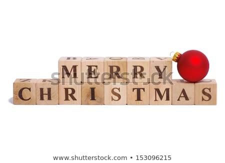 Noel yazım neşeli kırmızı beyaz mektup Stok fotoğraf © monkey_business