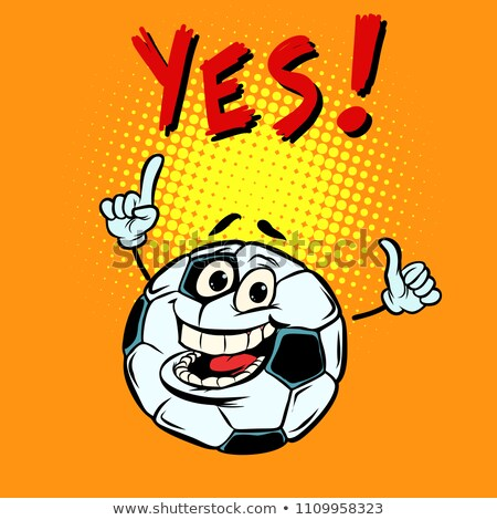幸せ · サッカーボール · 漫画 · 実例 · 手 - ストックフォト © rogistok