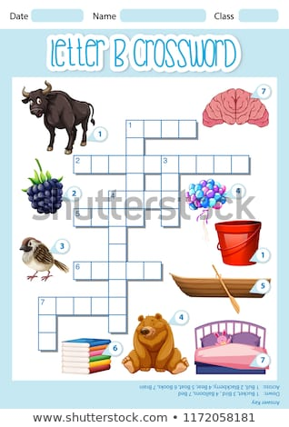 crossword letter b game template stock photo © bluering